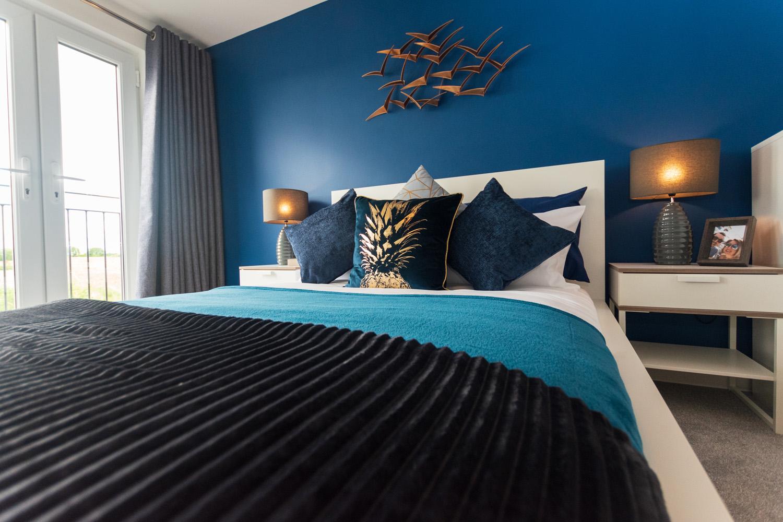 Modular master bedroom photograph