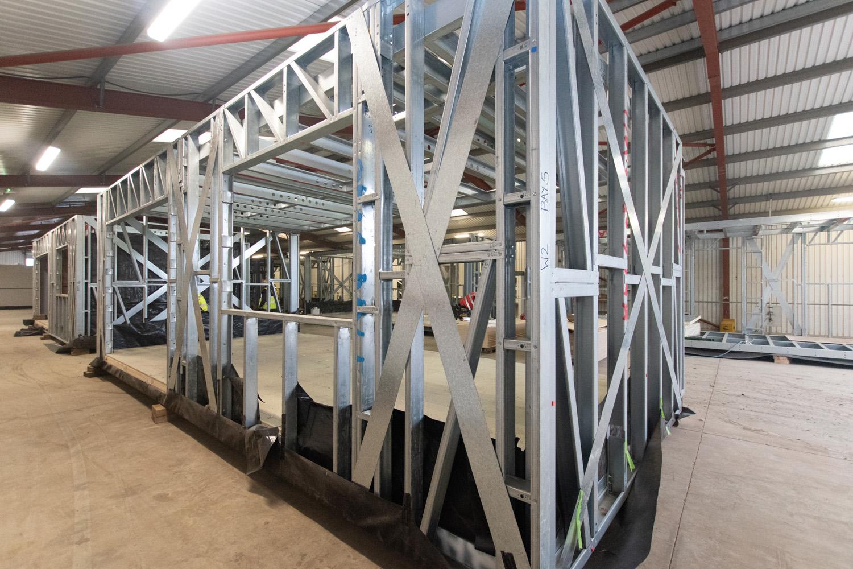 Modular steel frame system - M-AR off-site